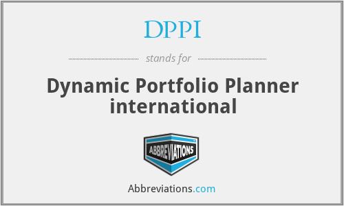 DPPI - Dynamic Portfolio Planner international