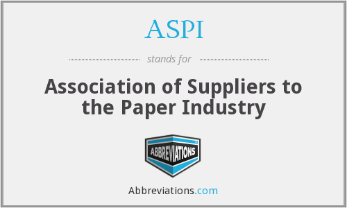 ASPI - Association of Suppliers to the Paper Industry
