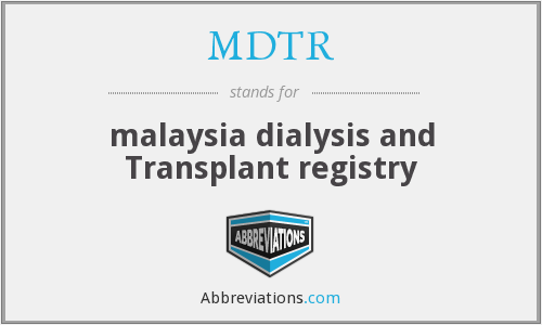 What does MDTR stand for?