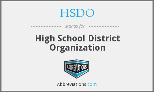 What does HSDO stand for?