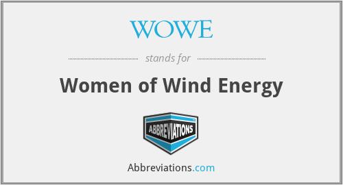 WOWE - Women of Wind Energy