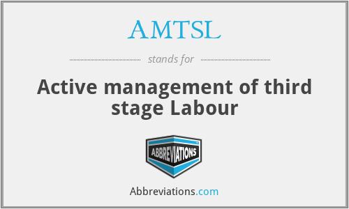 AMTSL - Active management of third stage Labour