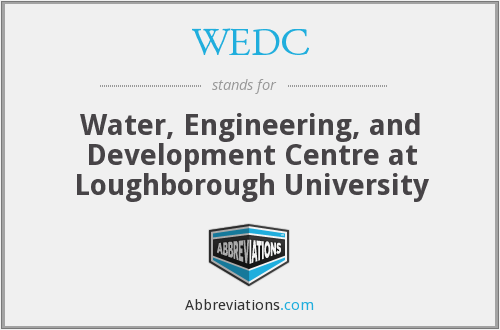 WEDC - Water, Engineering and Development Centre at Loughborough University