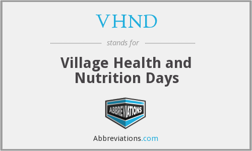 What does VHND stand for?