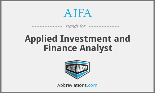 What does AIFA stand for?