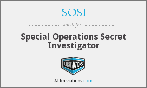 What does SOSI stand for?
