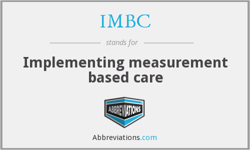 IMBC - Implementing measurement based care