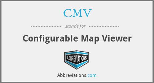 CMV - Configurable Map Viewer