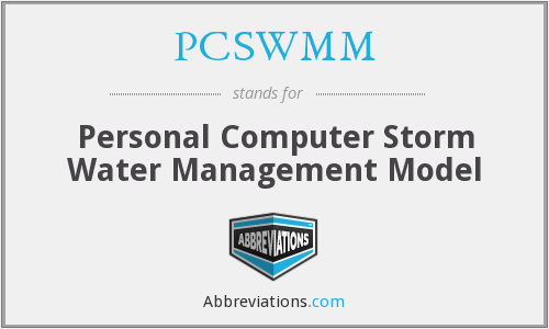 What does PCSWMM stand for?