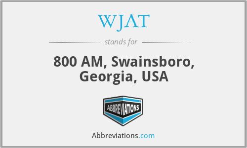 WJAT - 800 AM, Swainsboro, Georgia, USA