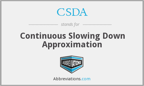CSDA - Continuous Slowing Down Approximation