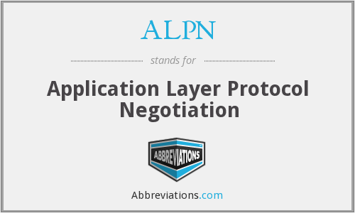 What does ALPN stand for?