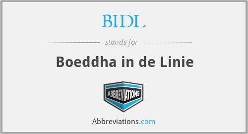 BIDL - Boeddha in de Linie