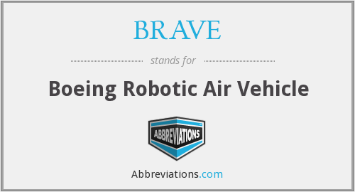 BRAVE - Boeing Robotic Air Vehicle