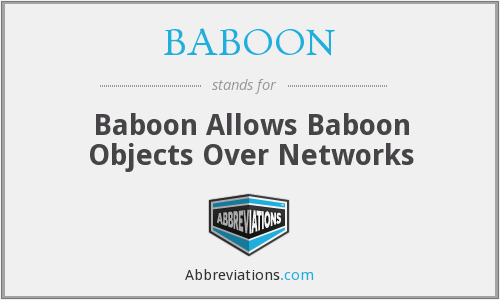 BABOON - Baboon Allows Baboon Objects Over Networks