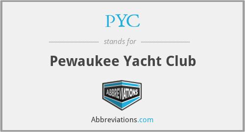 PYC - Pewaukee Yacht Club