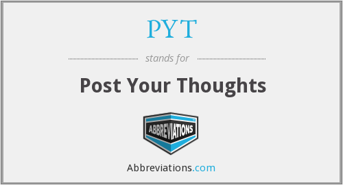 PYT - Post Your Thoughts