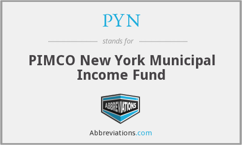 PYN - PIMCO New York Municipal Income Fund