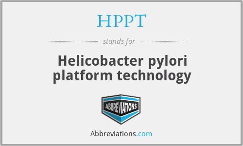 HPPT - Helicobacter pylori platform technology