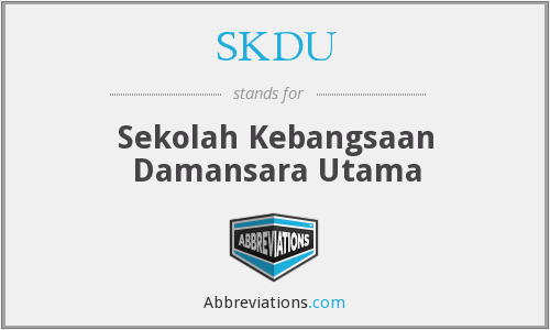 What does SKDU stand for?