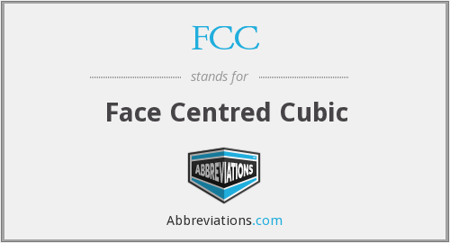FCC - Face Centred Cubic