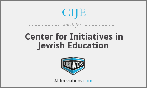 What does CIJE stand for?