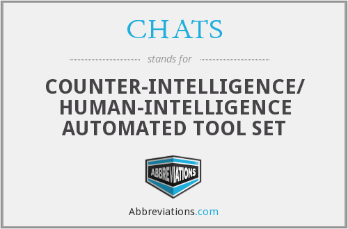 CHATS - COUNTER-INTELLIGENCE/ HUMAN-INTELLIGENCE AUTOMATED TOOL SET