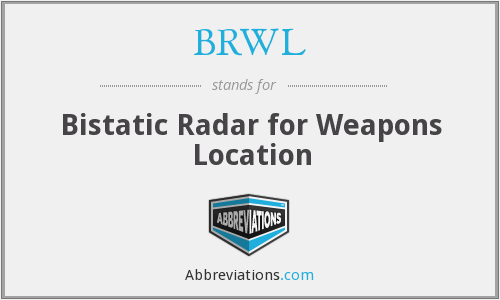 BRWL - Bistatic Radar for Weapons Location