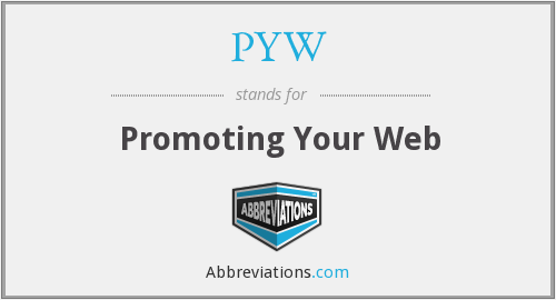 PYW - Promoting Your Web
