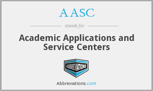 AASC - Academic Applications and Service Centers