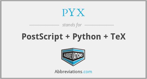 PYX - PostScript + Python + TeX
