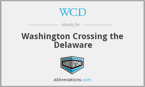 What is the abbreviation for washington crossing the delaware?