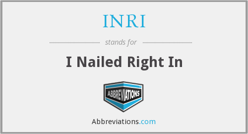 What does INRI stand for?