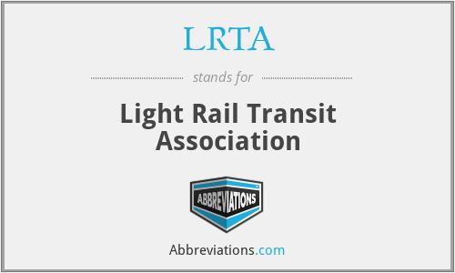 LRTA - Light Rail Transit Association