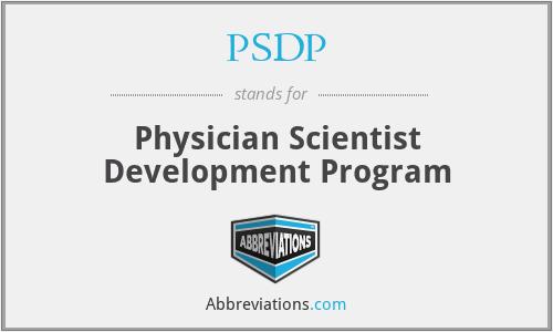 PSDP - Physician Scientist Development Program