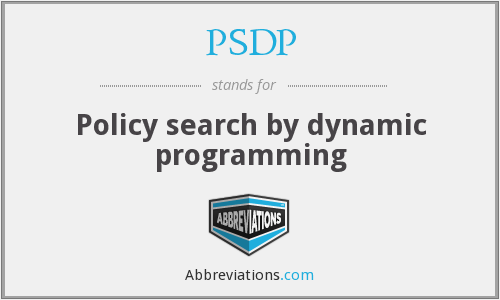 PSDP - Policy search by dynamic programming