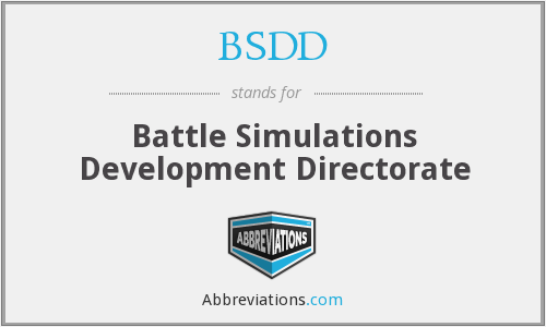 What does BSDD stand for?