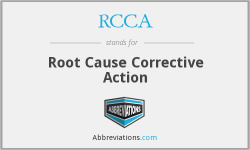 What does RCCA stand for?