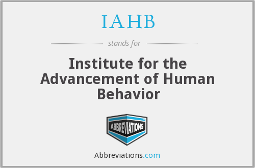 What does IAHB stand for?