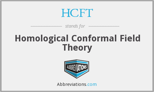 What does HCFT stand for?