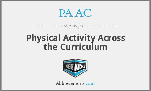 PAAC - Physical Activity Across the Curriculum