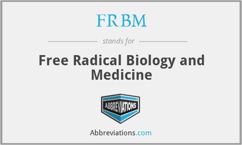 free radical biology and medicine abbreviation