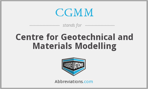 CGMM - Centre for Geotechnical and Materials Modelling