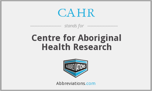 What does CAHR stand for?