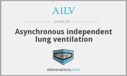 AILV - Asynchronous independent lung ventilation