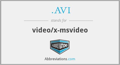 .AVI - video/x-msvideo