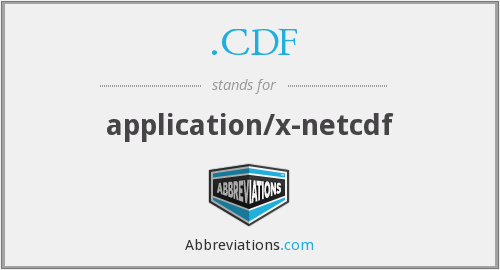.CDF - application/x-netcdf