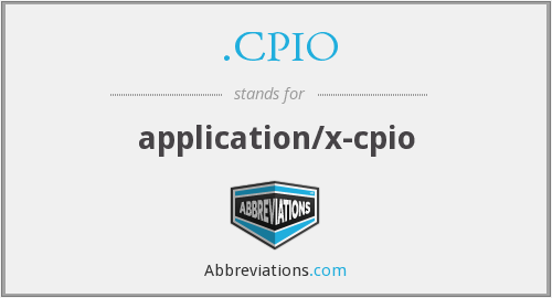 What does .CPIO stand for?
