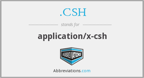 What does .CSH stand for?