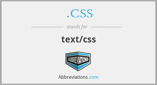 .CSS - text/css